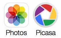comparing photos icon and picasa logo